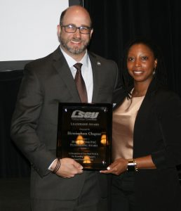 Katrina accepts award for Birmingham chapter