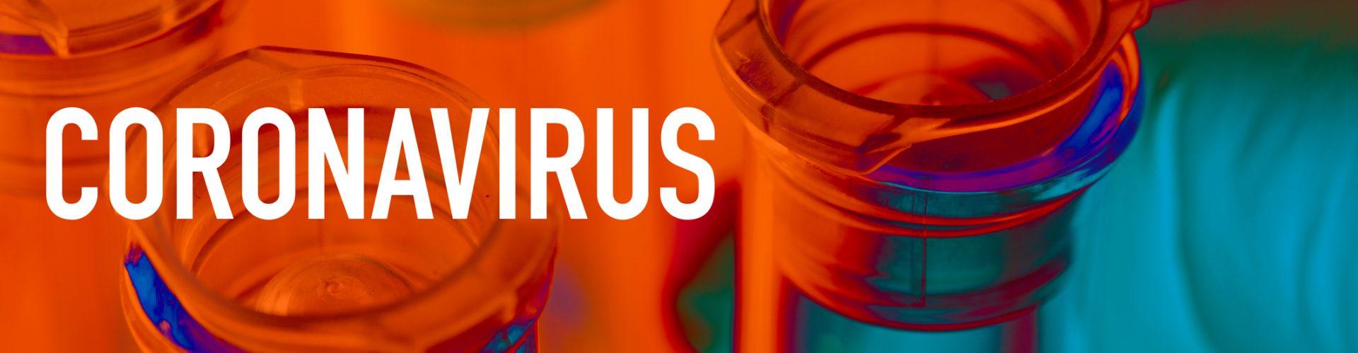 Corona virus: test tube with corona virus, covid-19