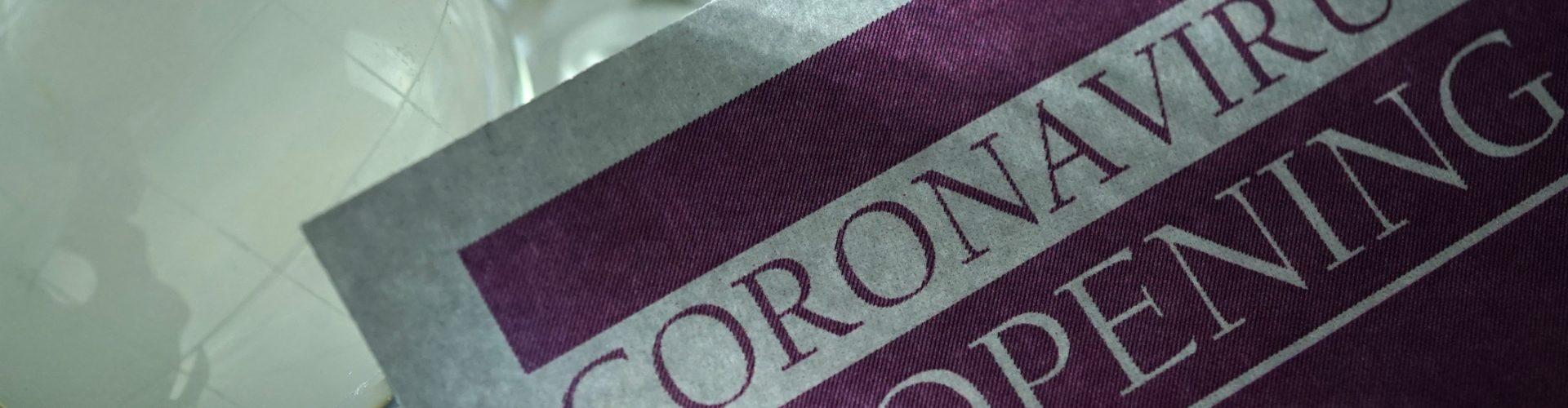 shot of the word coronavirus
