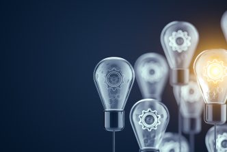 Innovation and new ideas lightbulb concept