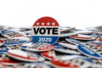 Get Out the Vote 2020 Presidential Voting Buttons