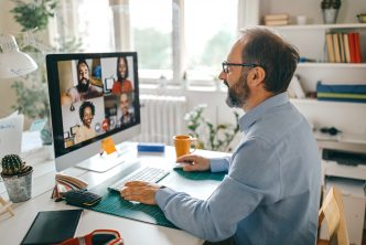 Video call with team members